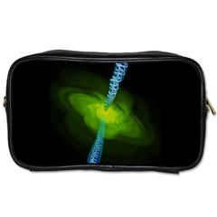 Gas Yellow Falling Into Black Hole Toiletries Bags 2 Side