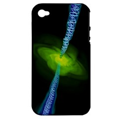 Gas Yellow Falling Into Black Hole Apple Iphone 4/4s Hardshell Case (pc+silicone)