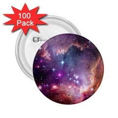 Galaxy Space Star Light Purple 2 25  Buttons (100 Pack)