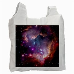 Galaxy Space Star Light Purple Recycle Bag (two Side)