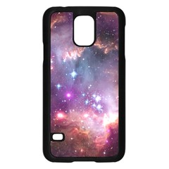 Galaxy Space Star Light Purple Samsung Galaxy S5 Case (black)