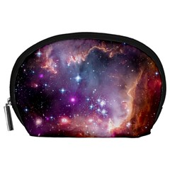 Galaxy Space Star Light Purple Accessory Pouches (large)