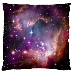 Galaxy Space Star Light Purple Large Flano Cushion Case (two Sides)