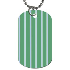 Green Line Vertical Dog Tag (two Sides)