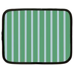 Green Line Vertical Netbook Case (large)