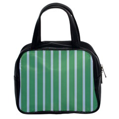Green Line Vertical Classic Handbags (2 Sides)