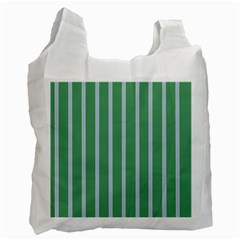 Green Line Vertical Recycle Bag (two Side)