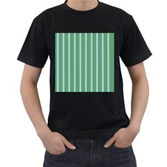 Green Line Vertical Men s T Shirt (black)