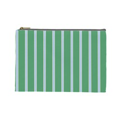 Green Line Vertical Cosmetic Bag (large)