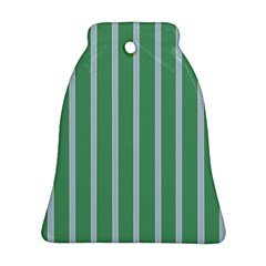 Green Line Vertical Bell Ornament (two Sides)