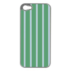 Green Line Vertical Apple Iphone 5 Case (silver)