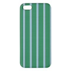 Green Line Vertical Apple Iphone 5 Premium Hardshell Case
