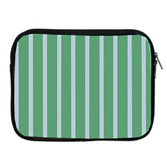 Green Line Vertical Apple Ipad 2/3/4 Zipper Cases