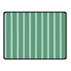 Green Line Vertical Double Sided Fleece Blanket (small)