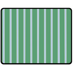 Green Line Vertical Double Sided Fleece Blanket (medium)