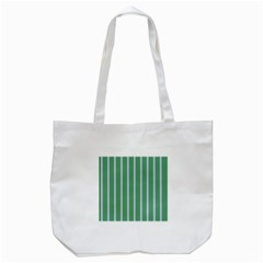 Green Line Vertical Tote Bag (white)