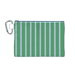 Green Line Vertical Canvas Cosmetic Bag (m)