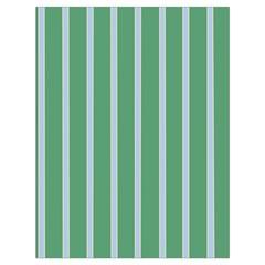 Green Line Vertical Drawstring Bag (large)