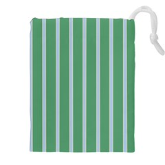 Green Line Vertical Drawstring Pouches (xxl)