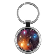 Galaxy Space Star Light Key Chains (round)