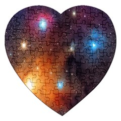 Galaxy Space Star Light Jigsaw Puzzle (heart)