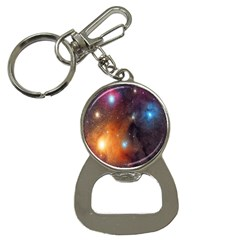 Galaxy Space Star Light Button Necklaces