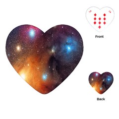 Galaxy Space Star Light Playing Cards (heart)