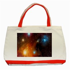 Galaxy Space Star Light Classic Tote Bag (red)