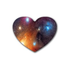 Galaxy Space Star Light Heart Coaster (4 Pack)