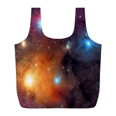 Galaxy Space Star Light Full Print Recycle Bags (l)