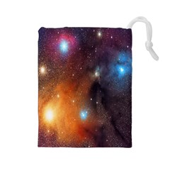 Galaxy Space Star Light Drawstring Pouches (large)