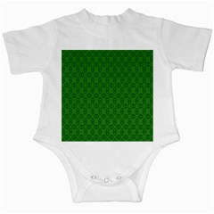 Green Seed Polka Infant Creepers
