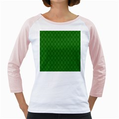 Green Seed Polka Girly Raglans