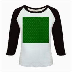 Green Seed Polka Kids Baseball Jerseys