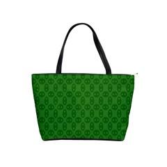 Green Seed Polka Shoulder Handbags