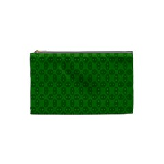 Green Seed Polka Cosmetic Bag (small)