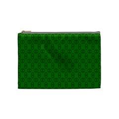 Green Seed Polka Cosmetic Bag (medium)