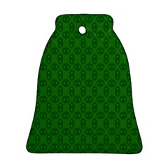 Green Seed Polka Bell Ornament (two Sides)