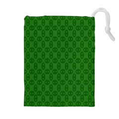 Green Seed Polka Drawstring Pouches (extra Large)