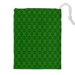 Green Seed Polka Drawstring Pouches (xxl)