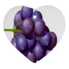 Grape Fruit Heart Ornament (two Sides)