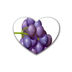 Grape Fruit Rubber Coaster (heart)