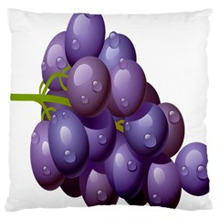 Grape Fruit Large Cushion Case (one Side)