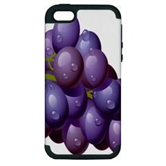Grape Fruit Apple Iphone 5 Hardshell Case (pc+silicone)