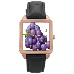 Grape Fruit Rose Gold Leather Watch
