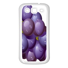 Grape Fruit Samsung Galaxy S3 Back Case (white)