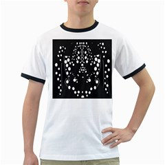 Helmet Original Diffuse Black White Space Ringer T Shirts