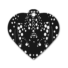 Helmet Original Diffuse Black White Space Dog Tag Heart (two Sides)