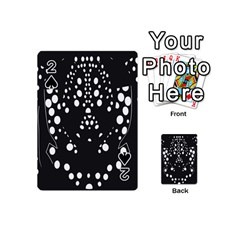 Helmet Original Diffuse Black White Space Playing Cards 54 (mini)