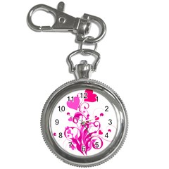 Heart Flourish Pink Valentine Key Chain Watches